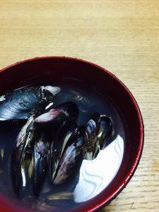 岩美町い貝(ムラサキイガイ)すまし汁