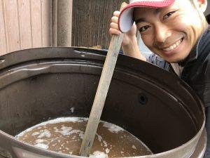 液肥を作る川西